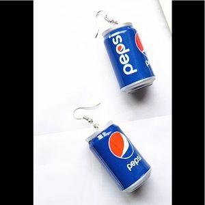 Pepsi Soda Can Earrings